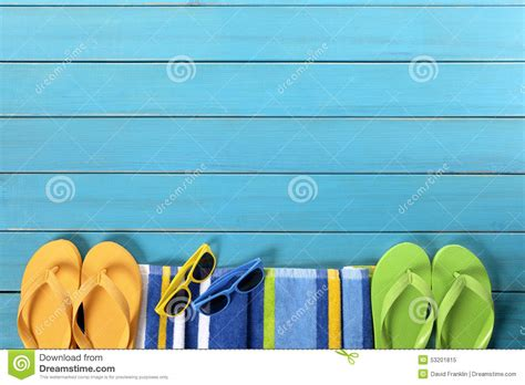 Chliya Travel Towel Weathered Blue summer background border flip flops sunglasses copy