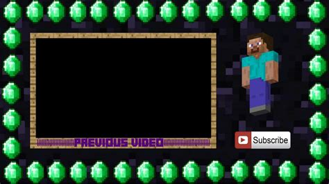 minecraft outro template maker outro template minecraft project