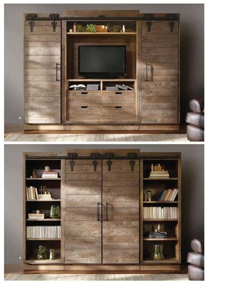 Tv Cabinet With Doors To Hide Tv Sliding Barn Doors Entertainment Units And Sliding Barn Door Hardware On Pinterest