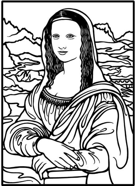Mona Lisa Drawing To Color Images Frompo Da Vinci Printable Coloring