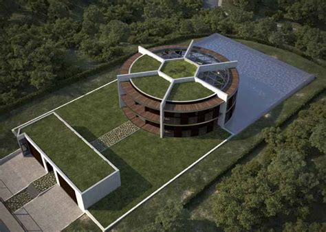 Architect Designs A Soccer Ball Shaped House For Famous Footballer Lionel Messi