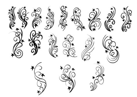 stars and swirls tattoo designs stunning and swirls design