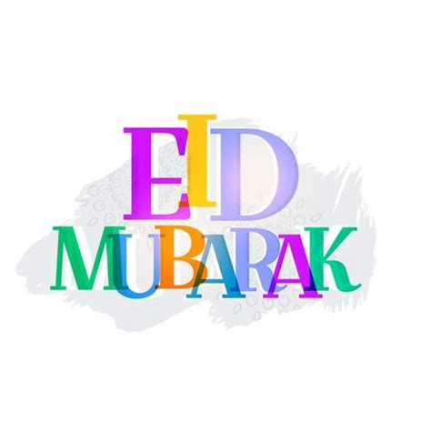 colorful eid mubarak text abstract background