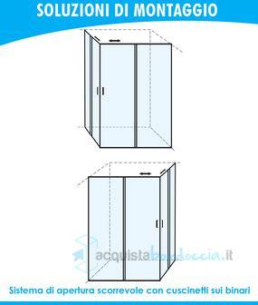 piatto doccia 65x100 box doccia angolare porta scorrevole 65x100 cm opaco