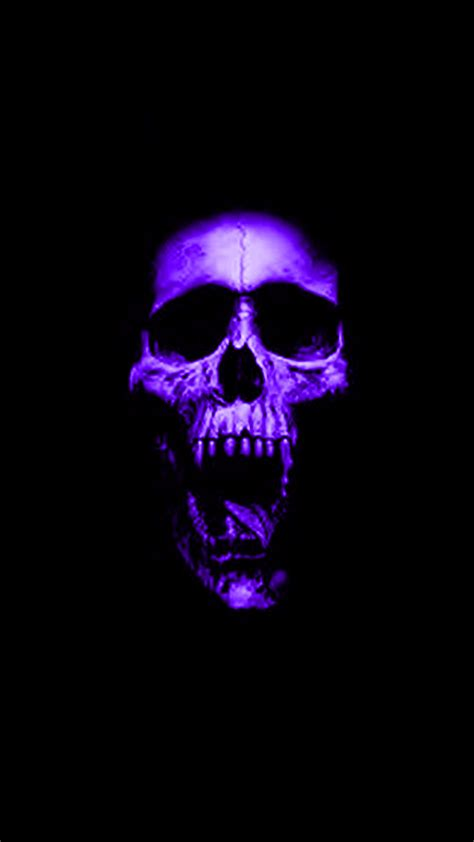 wallpaper android skull purple skull hd android wallpaper