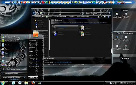 themes para pc ultimate dark for seven themes for pc