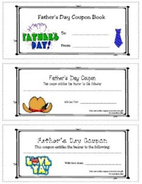 Some Of The Best Things In Life Are Mistakes Ideas For Father S Day S Day Coupon Template