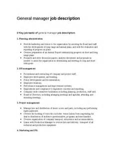 Housekeeping Manager Resume Sample General Manager Job Description Hashdoc