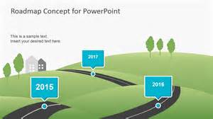 Powerpoint Template Roadmap by Creative Roadmap Concept Powerpoint Template Slidemodel