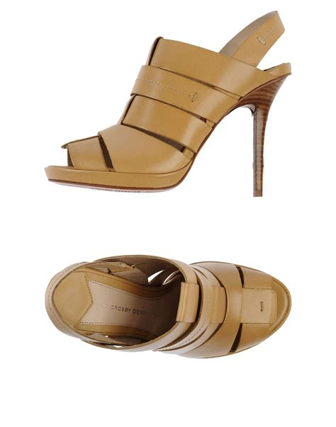 derek lam sandals 10 crosby derek lam sandals in beige lyst