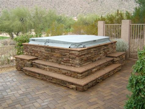 the backyard company hot tub surrounds spa surrounds by the yard company
