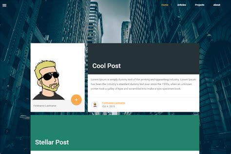 themes of hugo github ppfeiler hugomdl material design lite blog theme