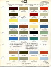 Ford Paint 1970 S Ford Paint Charts Retro Rides