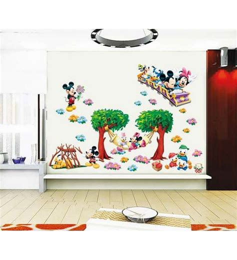 mickey mouse home decor pindia mickey mouse wall sticker by pindia online