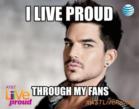 Adam Lambert Memes - adam lambert talks with glaad about the live proud