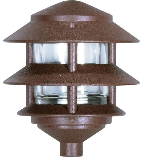 3 Louver Pagoda Garden Light Traditional Landscape Pagoda Landscape Lights