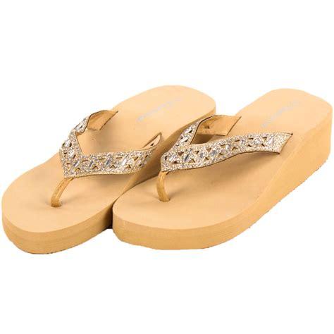 Sandal Wanita Wedges Sponge Asugie womens platform flip flop sandals heel wedge high