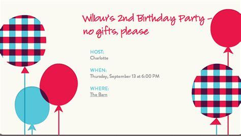 birthday invitation wording no gifts jeri s organizing decluttering news no gift birthday them work
