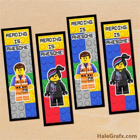 Printable Lego Bookmarks | free printable lego movie emmet and wyldstyle bookmarks