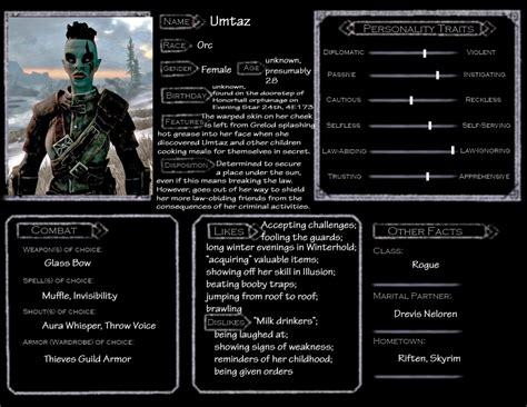 skyrim character template umtaz by norroen stjarna on