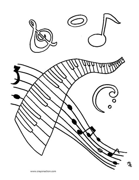 music coloring pages to print musical notes coloring pages coloring home