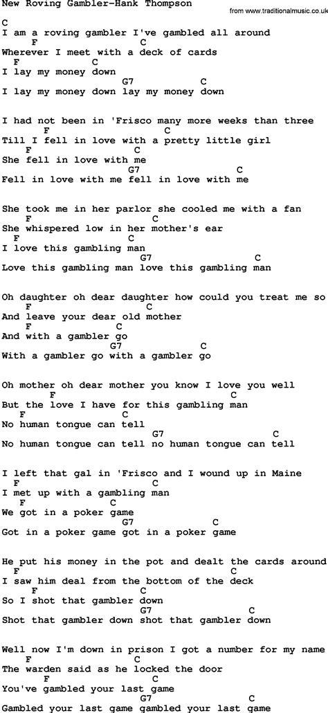 Kenny Rogers The Gambler Guitar Chords Gallery - basic guitar chords ...