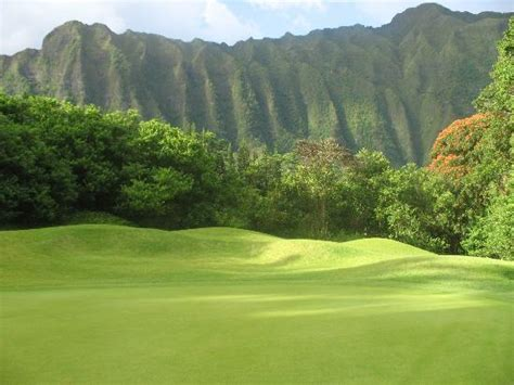 overlooking the golf course   Picture of Ko'olau Golf Club