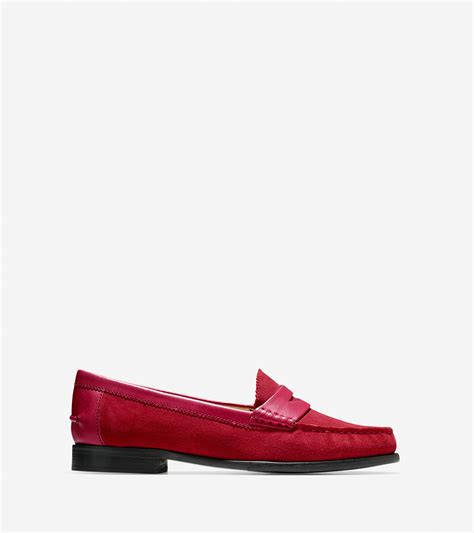 suede cole haan loafers lyst cole haan kent suede loafers in