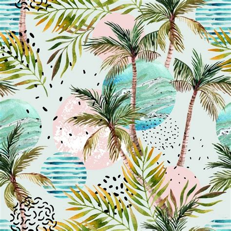 palm trees background abstract summer tropical palm tree background wall mural