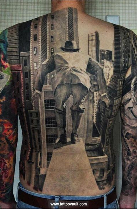 back tattoos for black men back black and white for