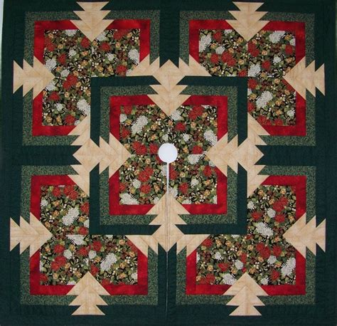 the quilt chef sliced pineapple christmas tree skirt kit