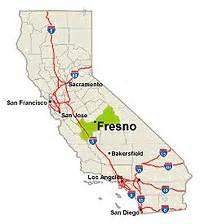 map of fresno california and surrounding area fresno california