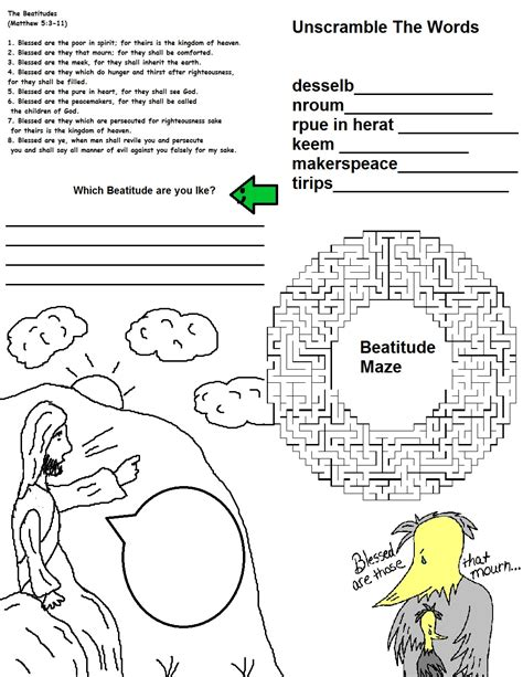 free coloring pages of the beattitudes