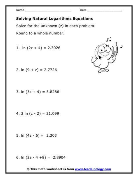 Solving Exponential Equations Using Logarithms Worksheet by Solving Exponential And Logarithmic Equations Worksheet