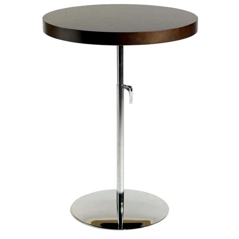 Adjustable Side Table Ricardo Adjustable Side Table Wenge Chrome End Tables