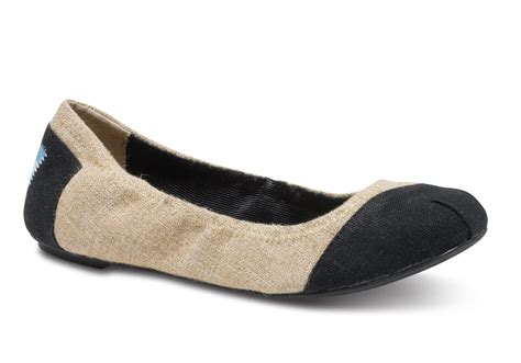 toms shoes ballet flats lyst toms burlap alessandra s ballet flats in