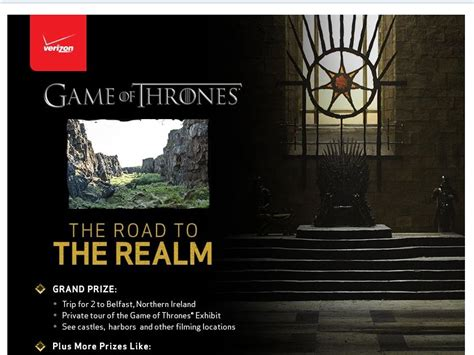 Verizon Sweepstakes - verizon quot the road to the realm quot sweepstakes