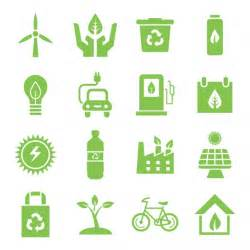 green environment icons set vector free download