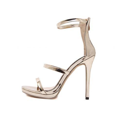 stiletto sandals gold strappy stiletto heel sandals