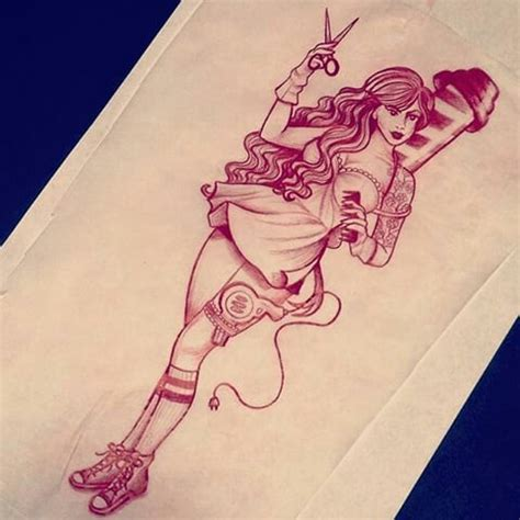 hair stylist tattoo designs 25 best ideas about pin up tattoos on pin up