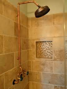 Old Style Bathtub Exposed Copper Shower Home Design Ideas Pictures Remodel