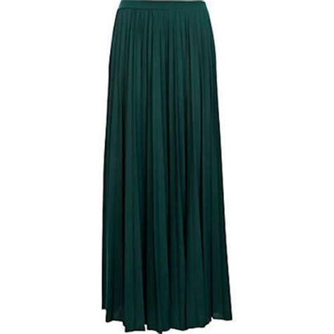 green pleated maxi skirt maxi from river island
