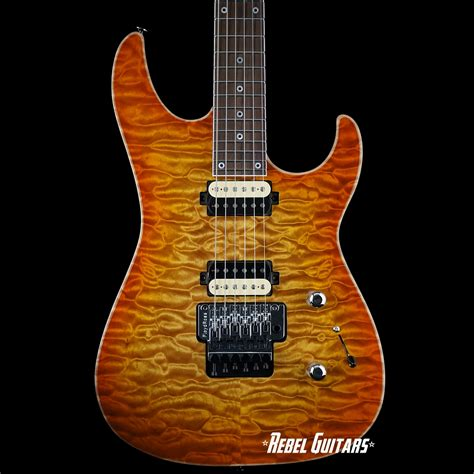 gj2 guitars shredder select w quilted maple top rebel