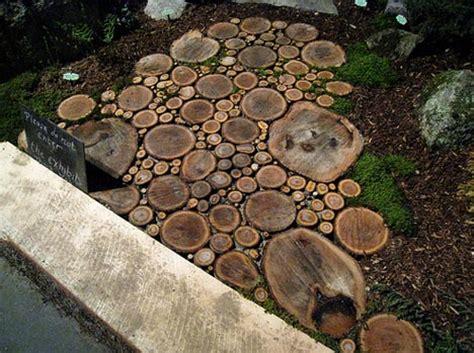 Wood Garden by Home Garden Patio Wood Path Design Idea