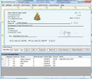 print checks at home screenshot ezcheckpersonal check printing software