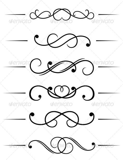 decorative symbols 7 long script fonts with swirls images free swirly