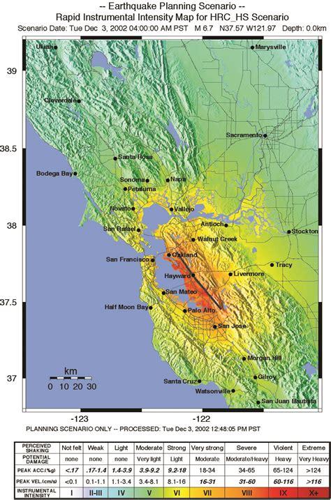 san francisco map altitude san francisco earthquake map risk