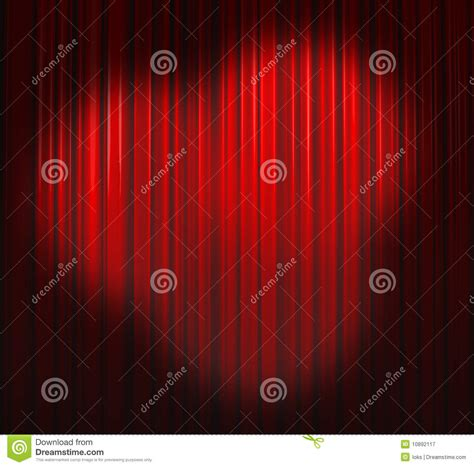 red and white spotty curtains deep red curtain with three spots royalty free stock