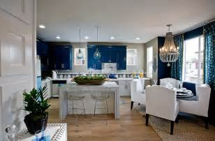 blue and white kitchen classy blue and white kitchen and dining space decoist