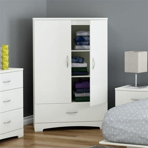 Big White Wardrobe South Shore Step One Armoire In White 3160037